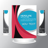 Background tri fold business set brochure  cards flyers template  Royalty Free Stock Image