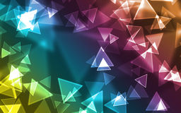 Background - triangle. Abstract colourful triangle. Add your text Stock Photography
