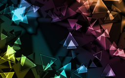Background - triangle. Abstract colourful triangle. Add your text Stock Photo