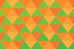 Background triangle pixel banner orange abstract pattern green light.  royalty free illustration