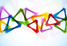 Background with triangles Stock Photo