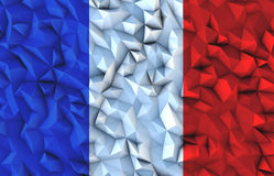 Background from triangles with French flag Royalty Free Stock Photo