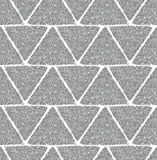 Background with triangles of silver glitter, seamless pattern Royalty Free Stock Photography