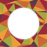Background with triangular pattern in retro colors with white bl Royalty Free Stock Image