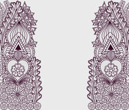 Background with tribal patterns in Indian motifs.  It can be used as greeting card or invitation style boho. Stock Photo