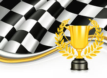 Background with a Trophy Stock Photography