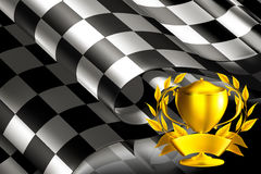 Background with a Trophy. Computer illustration Royalty Free Stock Images