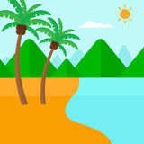 Background of tropical beach and sea. Royalty Free Stock Photo
