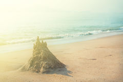 Background of a tropical beach. Vintage Filter Royalty Free Stock Images