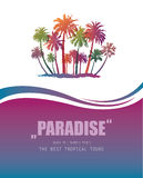 Background with Tropical Paradise. Stock Photos