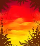 Background with tropical plants Royalty Free Stock Photos