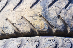 Background from truck or tractor tire Stock Photo