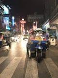 Background. Tuktuk at china town Bangkok royalty free stock photography