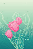 Background with tulips Stock Images