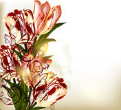 Background with tulips Royalty Free Stock Photos