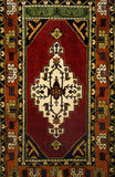 Background Turkish carpet. With floral ornament royalty free stock images