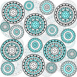 Background with turqoise circles Stock Images