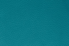 Background from turquoise leather. Macro picture of turquoise leath showing strukture Stock Images