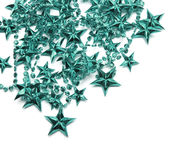 Background with turquoise stars Stock Photos