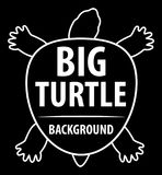Background with turtle. Silhouette of turtle. Royalty Free Stock Photo