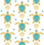 Background of turtles vector illustration