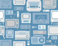 Background with TV symbols Stock Photos
