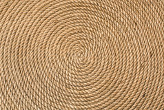 Background of twisted in a circle rope Stock Image