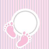 Background with two child foot steps and place for text Stock Photos