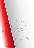 Background with two colors. Beautiful background vector with two colors and floral elements Stock Photos