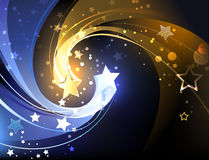Background with two contrasting stars Stock Photography