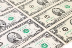 Background of two-dollar bills. Stock Photography
