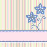 Background With Two Flowers. And a banner to add your text Royalty Free Stock Photos