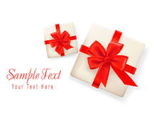 Background with two gift boxes Royalty Free Stock Photo