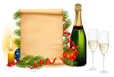 Background with two glasses of champagne. Stock Photography