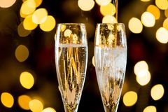 Background of two glasses of champagne royalty free stock image