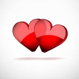 Background Two Hearts Happy Valentines Day Royalty Free Stock Image