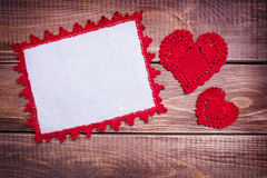 Background  with two hearts Stock Images