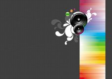 Background with two loudspeakers. Vector background with two loudspeakers royalty free illustration