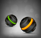 Background with two spheres Royalty Free Stock Photos