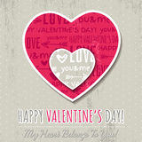 Background with two valentine hearts Royalty Free Stock Photos