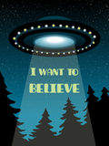 Background with UFO Stock Photos