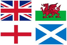Background, UK flags Royalty Free Stock Photography