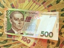 Background of the Ukrainian money Royalty Free Stock Photography