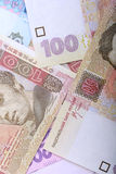 Background of the Ukrainian money - UAH Royalty Free Stock Photo