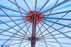 Background of umbrella. Background of blue umbrella steel Stock Images