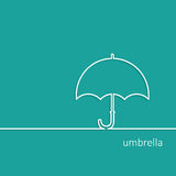 Background with Umbrella outline contour vector with shadow and Royalty Free Stock Photo