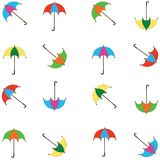 Background with  umbrellas Royalty Free Stock Photo