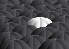 Background with umbrellas Stock Photography