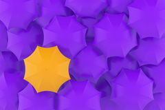 Background of umbrellas. 3d illustration Royalty Free Stock Photography