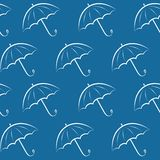 Background with umbrellas Royalty Free Stock Photos